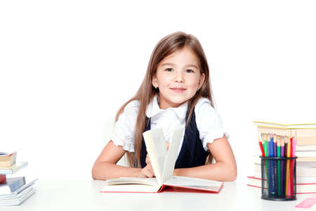 Photo pour Back to school! Concept of education, reading and learning. - image libre de droit