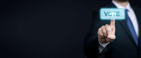 Photo pour Voting and election concept. Making the right decision - image libre de droit