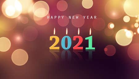Photo pour Creative design concept for the new year festival - image libre de droit