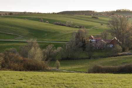 Hilly landscape in Lower Saxony