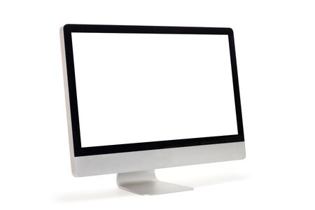 Photo for Computer monitor isolated on white background - Royalty Free Image