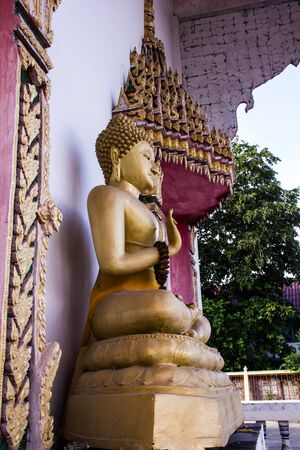 Buddha is regularly displayed on the front seen in Buddhist