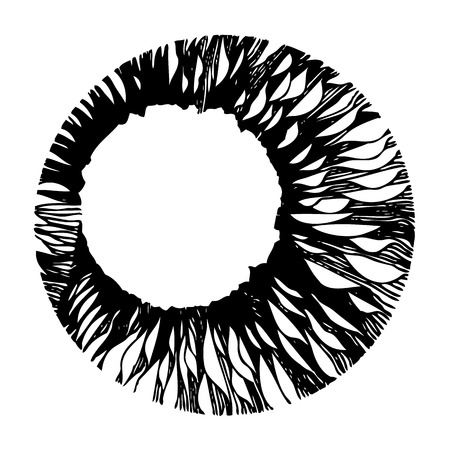 doodle design in circle shaped on white background