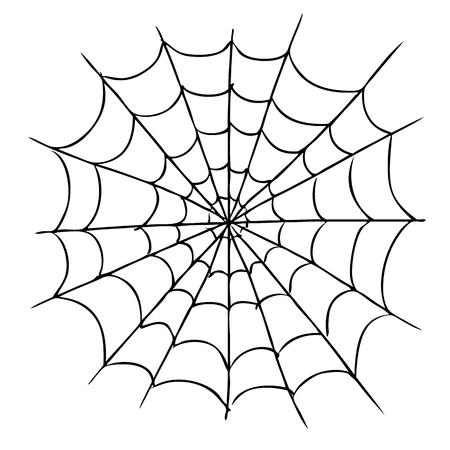 Ilustración de freehand sketch illustration of spider web, doodle hand drawn - Imagen libre de derechos