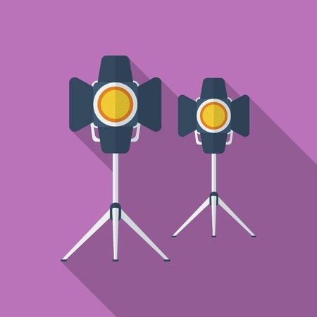 Icon of Cinema Lamp or Lighter. Flat style
