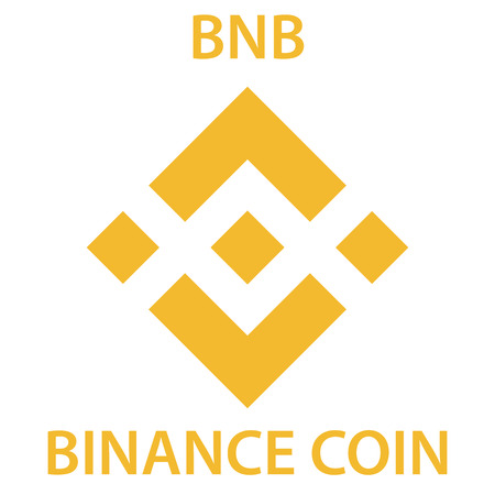 Binance Coin cryptocurrency blockchain icon. Virtual electronic, internet money or cryptocoin symbol, logo