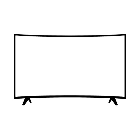 Illustration pour TFT LED wide screen smart tv icon - image libre de droit
