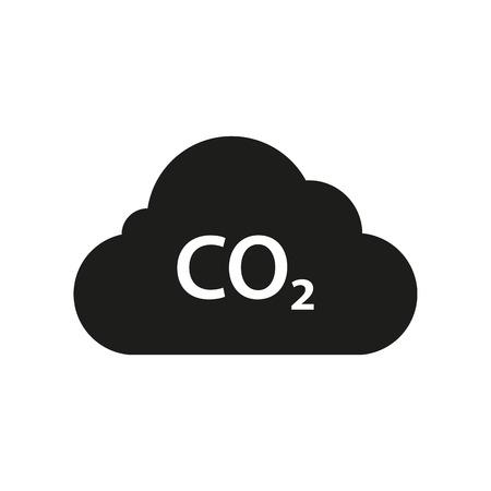 Illustration pour Cloud of CO2, carbon emission, pollution reduction icon. Ecology environment cleaning - image libre de droit
