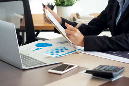 Photo for financial research note chart business - Royalty Free Image