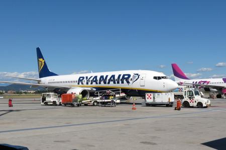 ORIO AL SERIO, BERGAMO, ITALY - CIRCA SEPTEMBER 2015 - Ryanair aircraft Boeing 737-800 parked at the airport ready for boarding
