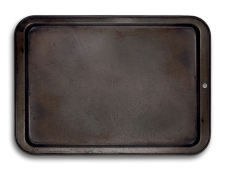 Empty baking tray isolated for easy use in layouts