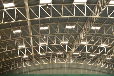 The steel roof of gymnasium