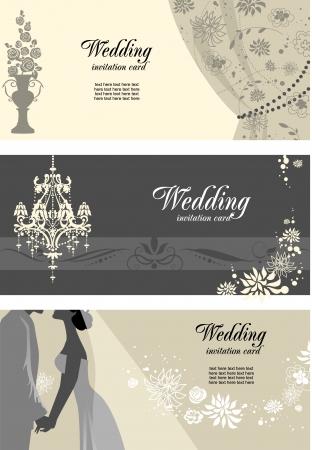 Foto de  Wedding cards with space for text - Imagen libre de derechos