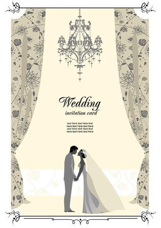 Foto de Wedding card with space for text   - Imagen libre de derechos