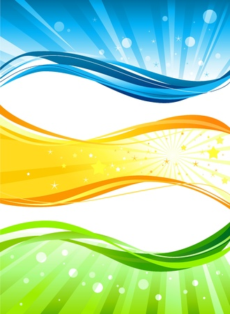 Abstract colour  banners