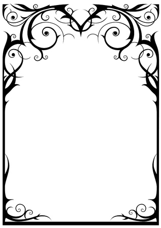 Fantasy frame with space for textの素材 [FY3109813451]