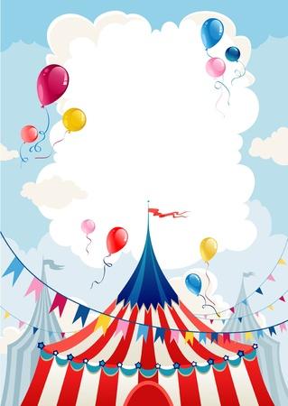 Illustration pour Circus day  - image libre de droit