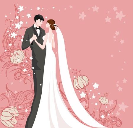 Foto de Wedding with space for text - Imagen libre de derechos