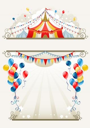 Illustration pour Circus frame with space for text   - image libre de droit
