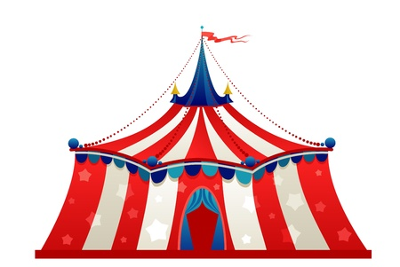 Circus marquee tent isolated
