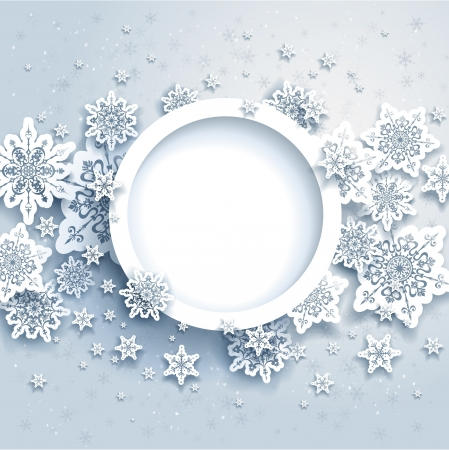 Abstract winter design with snowflakes and space for text