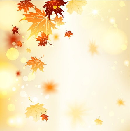 Illustration pour Fall background with maple leaves. Copy space - image libre de droit