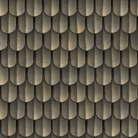 Abstract roof pattern. Render 3D Photo.