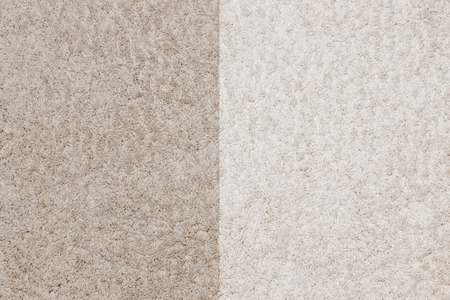 Photo pour Cleaning white with carpet nap before and after - image libre de droit