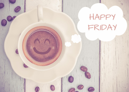 Happy Friday with coffee cup