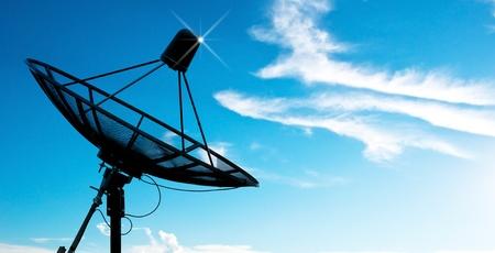 Photo for satellite dish antennas under sky - Royalty Free Image