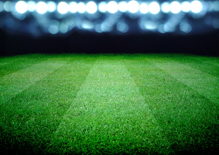 Photo pour soccer field and the bright lights - image libre de droit
