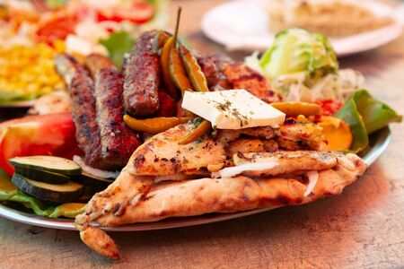 Photo for Barbecue at local restaurant in Mostar, Bosnia and Herzegovina - Royalty Free Image
