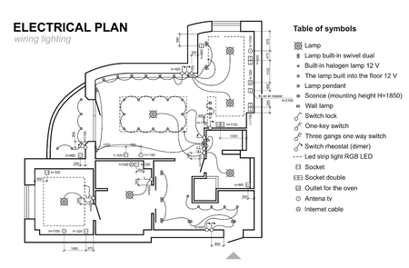 Plan wiring lighting. Electrical Schematic interior. Set of ... on blueprint symbol for window, blueprint symbol for toilet, blueprint symbol for lights, blueprint symbol for fan, blueprint symbol for phone jack, blueprint symbol for sink, blueprint electrical plans symbols, blueprint symbol for shower, blueprint symbol for water, blueprint symbol for thermostat, blueprint symbol for smoke detector,