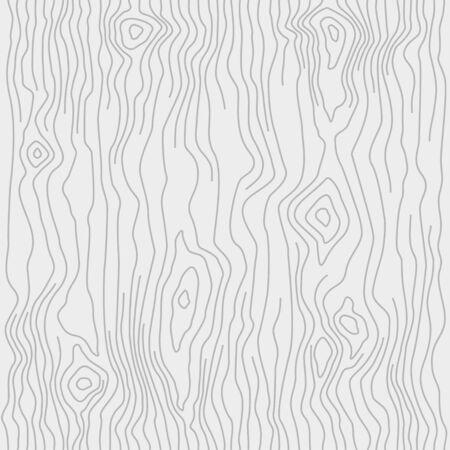 Illustration pour Seamless wooden pattern. Wood grain texture. Dense lines. Light gray background. Vector illustration - image libre de droit