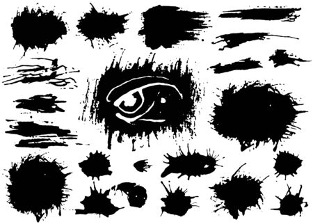 Illustration for Set of black paint, ink brush strokes, brushes, lines. Dirty artistic grunge design elements. Vector - Royalty Free Image