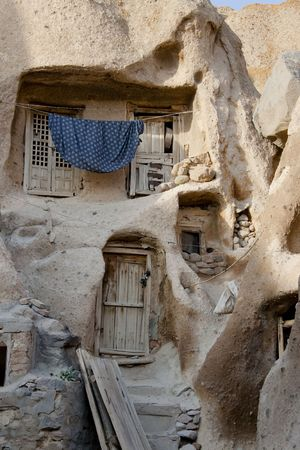 Small part of old village Candovan in Iran