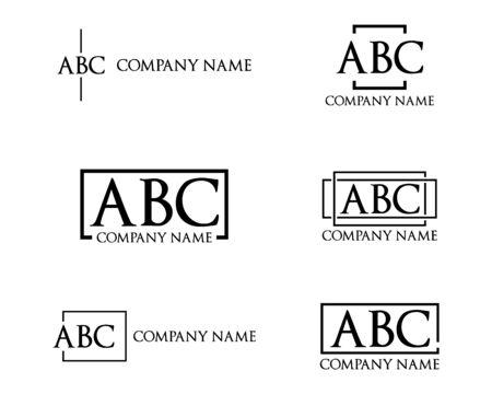 Illustration pour Set of Logo Letter Designs Simple and Minimalis - image libre de droit