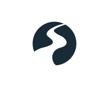 Illustration pour River Pathway, Creek Icon Vector Logo Template Illustration Design - image libre de droit