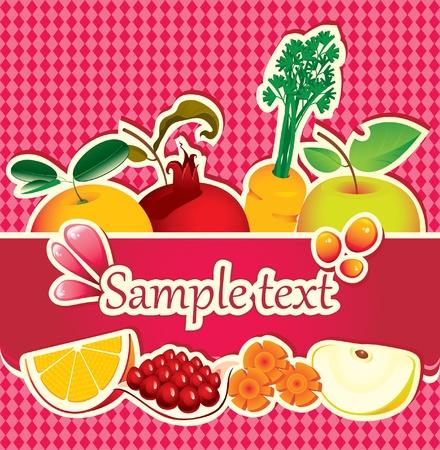 Foto für banner for juices and fresh fruit  - Lizenzfreies Bild