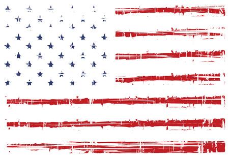 Illustration pour vector grunge texture flag of United States America - image libre de droit