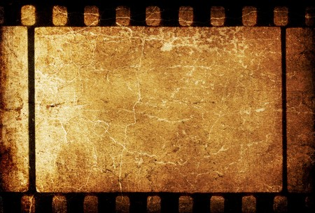 Vintage grunge 35mm filmstrip retro background.