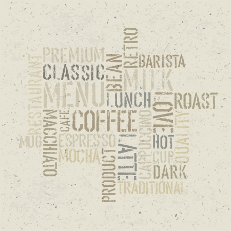 Coffee themed poster design template.