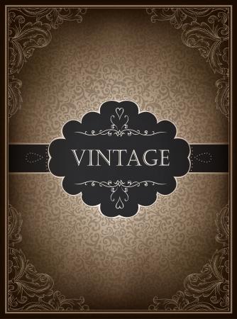 Vintage card design template