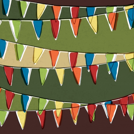 Illustration for Party pennant bunting  Happy holiday background  - Royalty Free Image