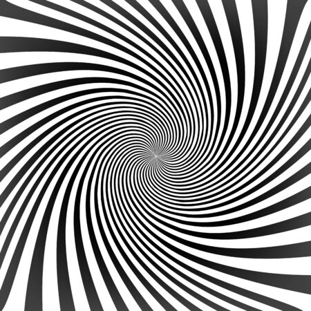 Black twisted lines on white with tunnel effect