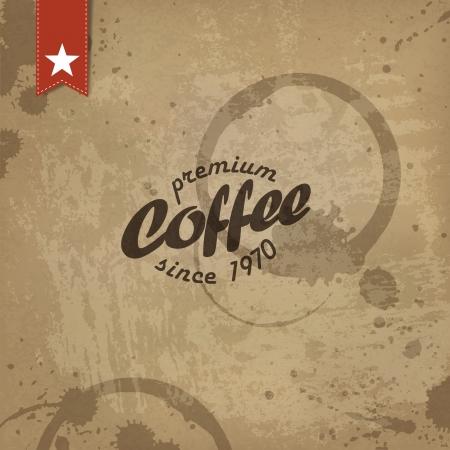 Coffee grunge retro background.