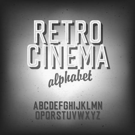Old cinema styled alphabet.