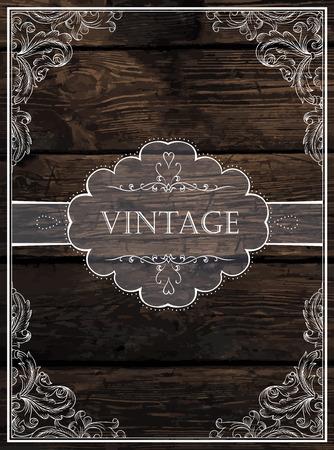 Foto de Vintage Card Design. Vector - Imagen libre de derechos