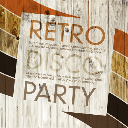 Illustration for Disco Retro Party - Royalty Free Image
