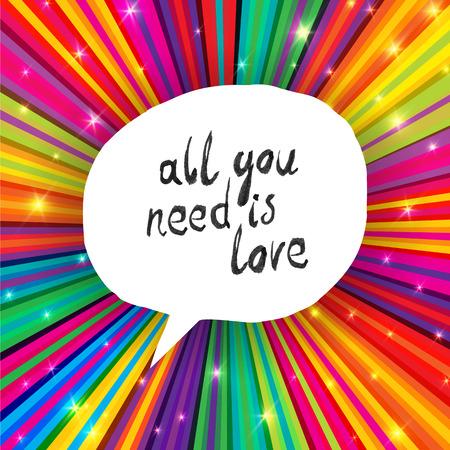 Vektor für All You Need Is Love Poster - Lizenzfreies Bild